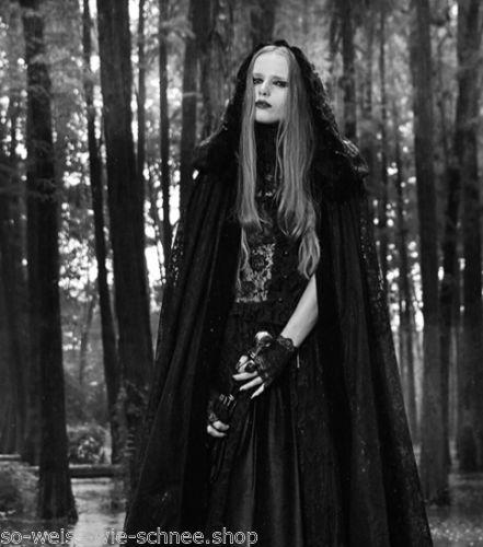 Punk-Rave-Umhang-2Way-Cape-Kapuze-Vampire-Gothic-Steampunk-LARP-Samt-Mantel-Y629