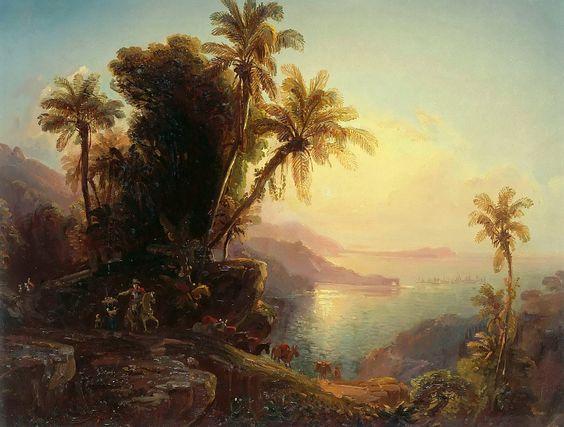 Побережье Ла-Гуайра на закате. Фердинанд Беллерман