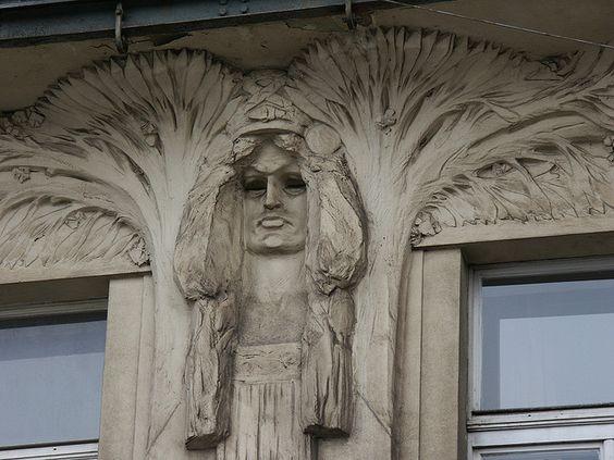 Building detail, Prague.