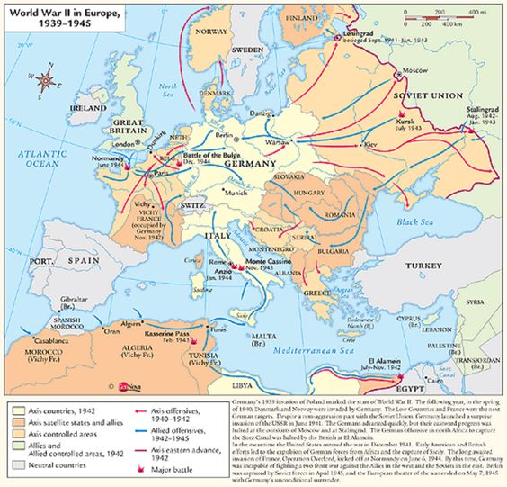 Timeline Of The Major Battles In Europe During World War II