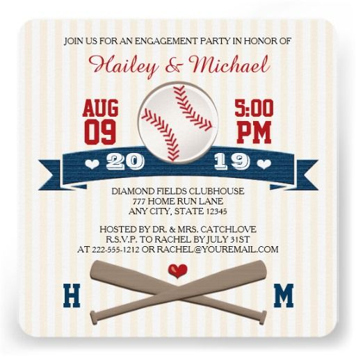 ReviewMONOGRAMMED BASEBALL ENGAGEMENT PARTY CUSTOM INVITATIONtoday price drop and special promotion. Get The best buy