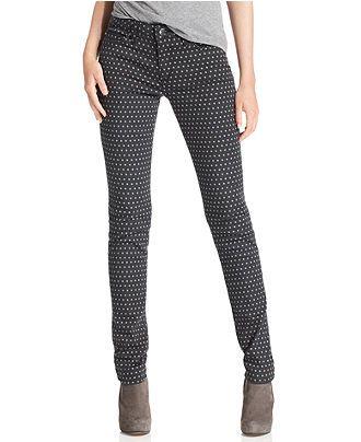 I.Want.Polka Dot.Jeans. [Else Jeans, Skinny Polka Dot-Print - Womens Jeans - Macy's]