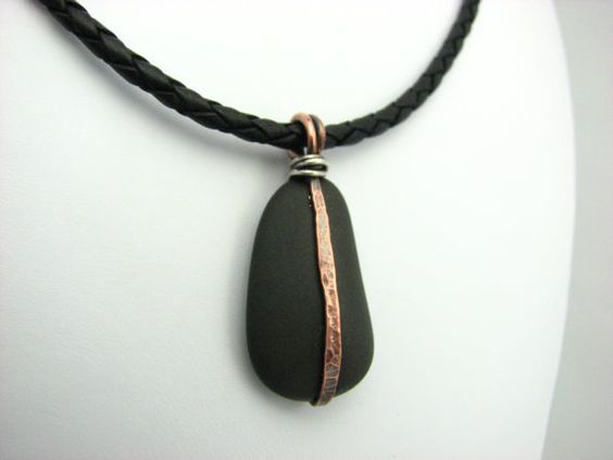 pebble jewelry jewelry beach stone jewelry diy wire jewelry natural ...
