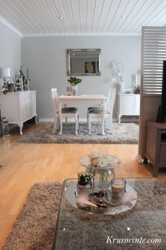 stue interi?r livingroom hvit spisestue gammel malt pusset opp ...