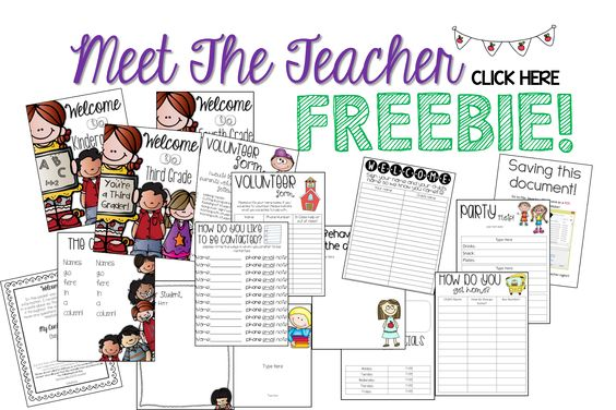 meet the teacher night parent letter