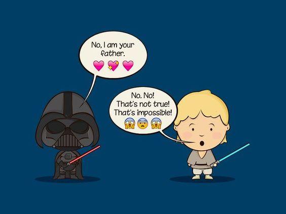 star wars emoji chat posts war and luke skywalker