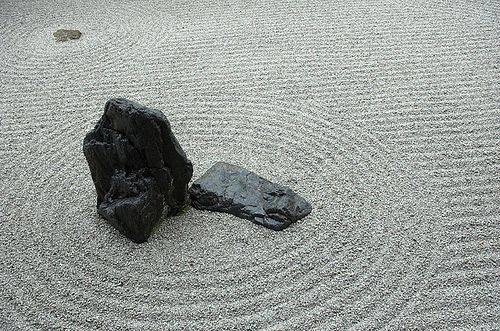 Detail from the Karesansui garden in Ryōan-ji Temple, Kyoto by canbalci, via Flickr