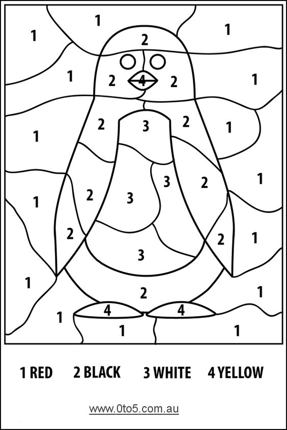 preschool penguins coloring pages - photo#35