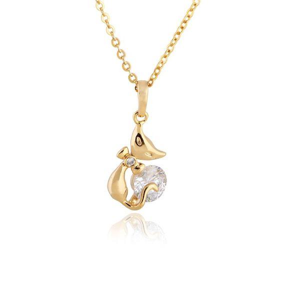 45.5cm Charming Cat Shape Inlay Zircon Pendant Copper Necklace Two Colors http://www.eozy.com/45-5cm-charming-cat-shape-inlay-zircon-pendant-copper-necklace-two-colors.html