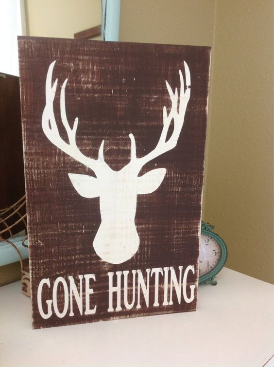 Gone Hunting Custom Wood Sign on Etsy, $43.00 | Wall Decor ...