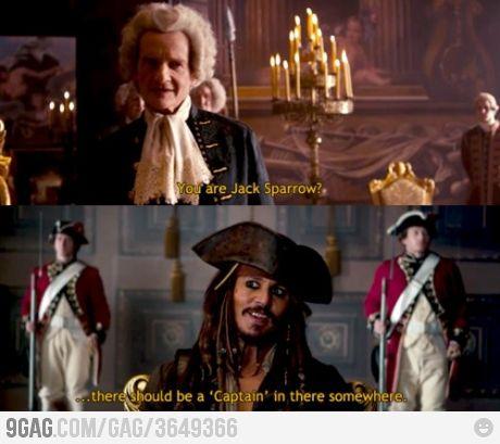 CAPTAIN Jack Sparrow Please...