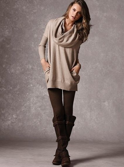 Sweater dress and boots! Wouldn't wear it as a dress, but sure LOVE the sweater