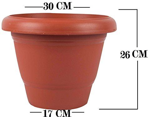 First Smart Plastic Round Pot 12 Inch Brown Pack Of 5 Outdoor Living Flower Pots Gardening Plant Containers Best News And Deals Pot Sets Flower Pots Container Plants