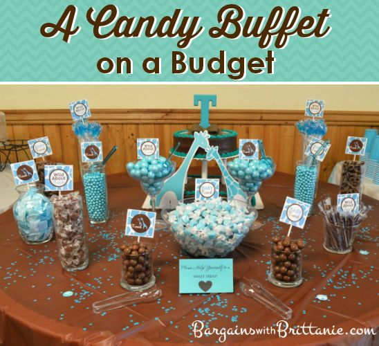Birthday Party Buffet Table: A Candy Buffet On A #Budget! Bargains With Brittanie