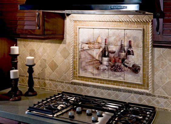 elegant kitchen backsplash above stove range our french. Black Bedroom Furniture Sets. Home Design Ideas