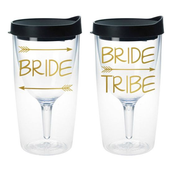 Wine Tumblers! So cute for bachelorette parties! $13