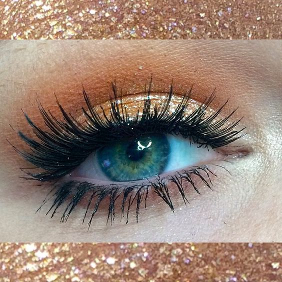 Colourpop (@colourpopcosmetics) Birthday Girl Shadow is so amazing  // F21 Lashes // Benefit (@benefitcosmetics) They're Real Mascara // Milani Cosmetics (@milanicosmetics) Bella Eyes Gel Powder Eyeshadow -- Bella Mandarin