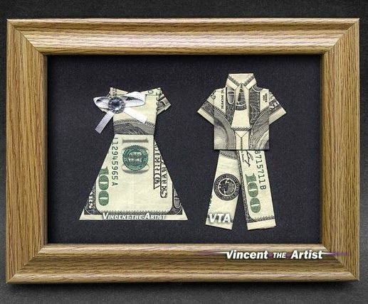 Came Up With A Creative Way To Give Money As Wedding Gift Http Www Homemade Gifts Made Easy Origami Shirt And Tie Html Stampin Pinterest