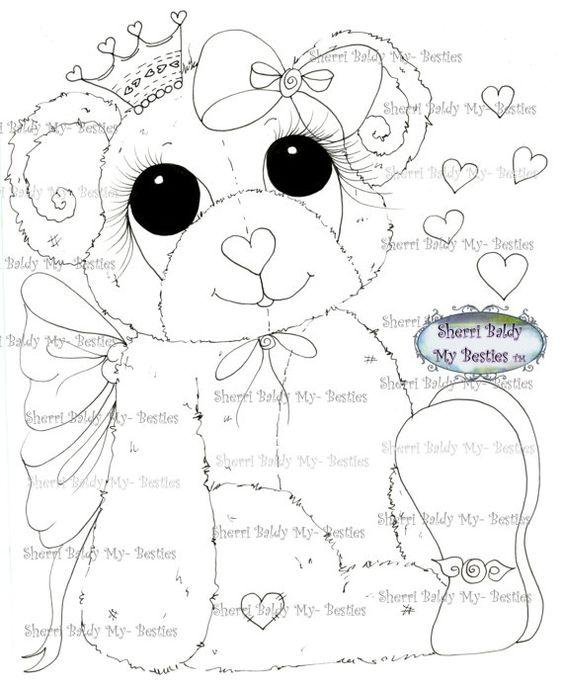 Faça o Download Digital Digi selos Olho grande Cabeça grande Dolls Bestie Bestie New Bears img531 Meus Besties por Sherri Baldy