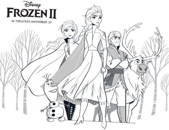 Dibujos Para Colorear Y Pintar Gratis De Frozen 2 De Disney Hispana Global En 2020 Dibujos De Frozen Frozen Para Colorear Frozen Para Pintar