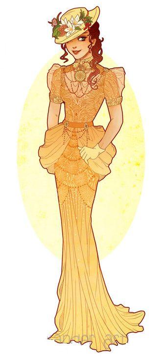 Art Nouveau Costume Designs VII: Jane by Hannah Alexander