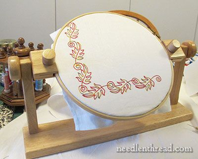 Tambour Embroidery Project - Autumn Leaves - Very Pretty!: