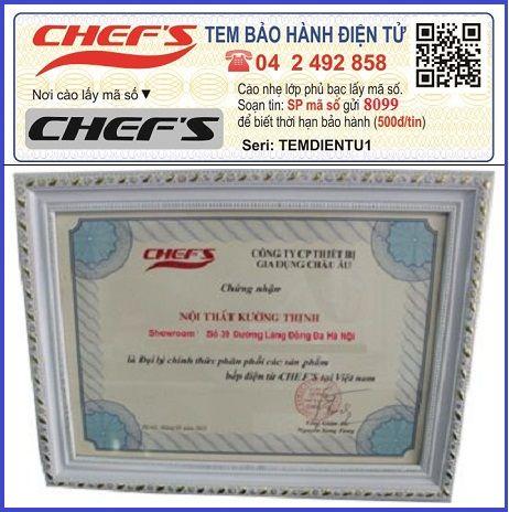 Bếp từ Chefs có hàng giả không?
