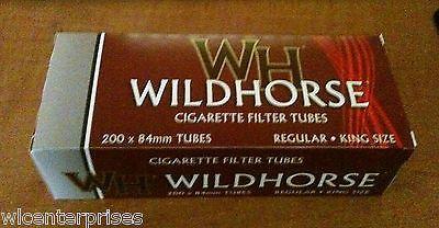Wildhorse Full Flavor King Size Cigarette Tubes 200 Count Box