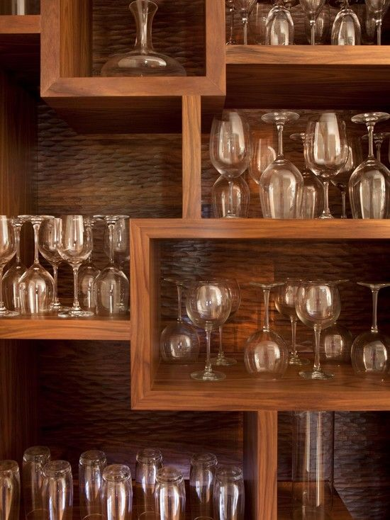 Kitchen Dining Room Nice Way To Store Glassware That Is