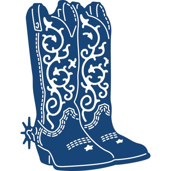 Tattered Lace Cowboy Boots Die Die Cuts Pinterest