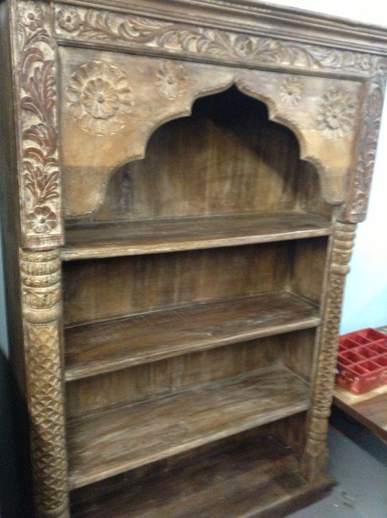 Indian Wood Bookcase 520 50l X 16w 71 5h