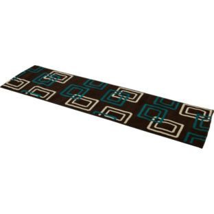 Buy Geo Carpet Runner - 200x57cm - Chocolate and Teal at Argos.co.uk - Your Online Shop for Home furnishings, Rugs and mats, Limited stock Home and garden.