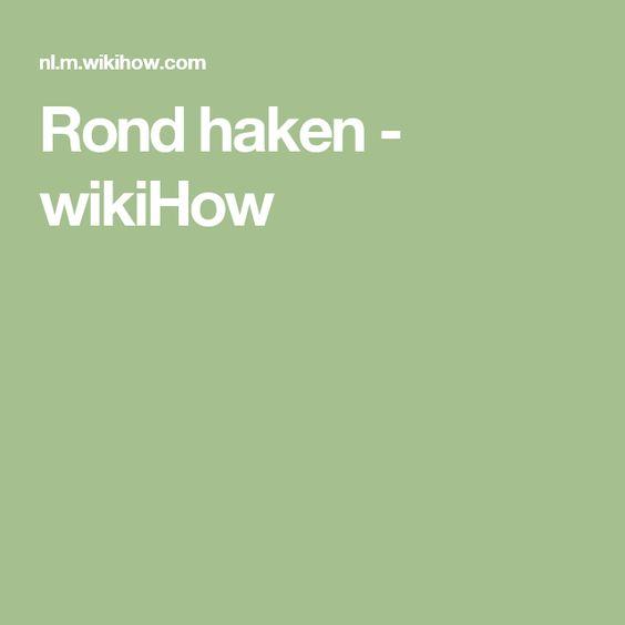 Rond haken - wikiHow