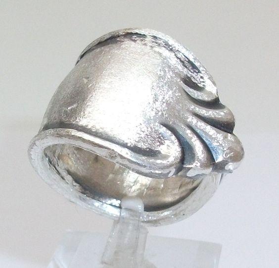 Antiker Silberring aus Besteckschmuck 20,5 mm S104 von Atelier Regina auf DaWanda.com
