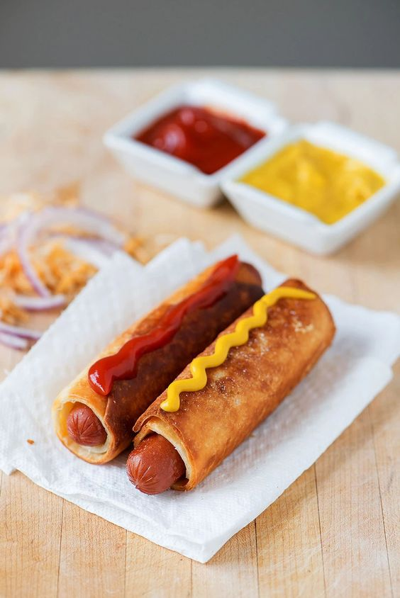 Easy Tortilla Hot Dog Wraps