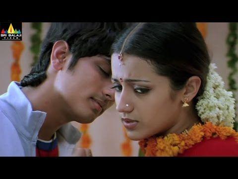 Nuvvostanante Nenoddantana Movie Scenes | Siddharth and Trisha Scene | Sri  Balaji Video - YouTube | Movie scenes, Movies, Scenes