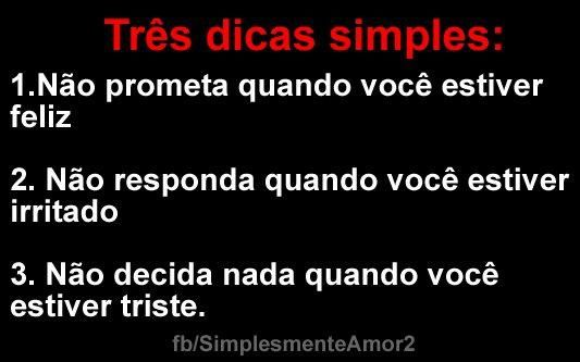 Tres dicas simples