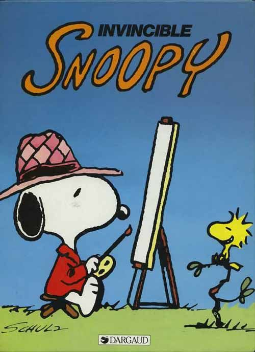 9. Invincible Snoopy - 1988  artist peanuts art watercolor