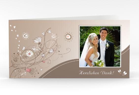 "Danksagungskarte Hochzeit ""Taranto"" DIN lang Klappkarte"
