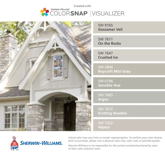 Exterior colors the rock and colors on pinterest for Knitting needles paint exterior