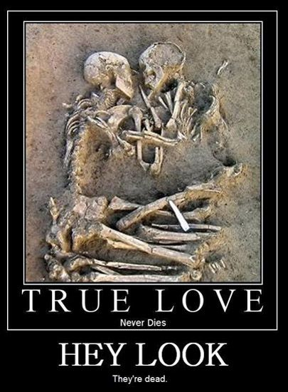 True Love Never Dies  Check out more funny pics at killthehydra.com