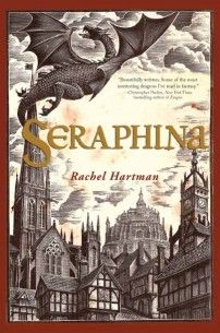 """Seraphina by Rachel Hartman. """"A highly enjoyable read, that I would recommend to anyone who's a fan of old school McKinley, or Megan Whalen Turner, or any smart & satisfying fantasy."""""""
