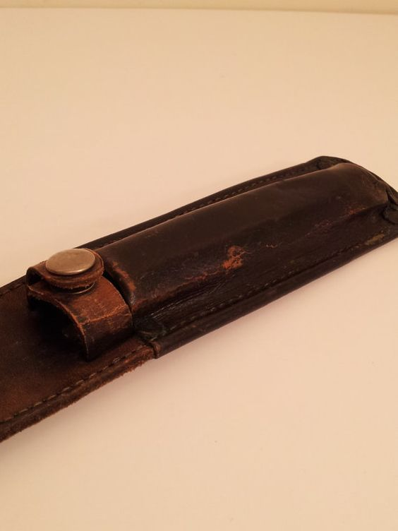 Aged Leather Sheath for Knife or Long Candle or by toliveforlove, $12.00
