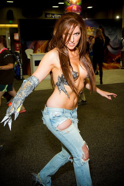 blue jeans Comic Con 2013  comic com girls #cosplay