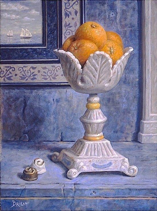 Daniel Brient (b.1950)  — Oranges and Chocolates, 2005  (550x737):