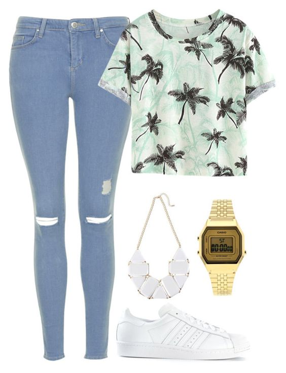 """I love it !!"" by maevaxstyle ❤ liked on Polyvore featuring Topshop, adidas, women's clothing, women, female, woman, misses and juniors"