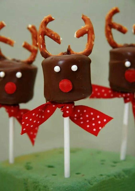 Reindeer marshmallow pop!