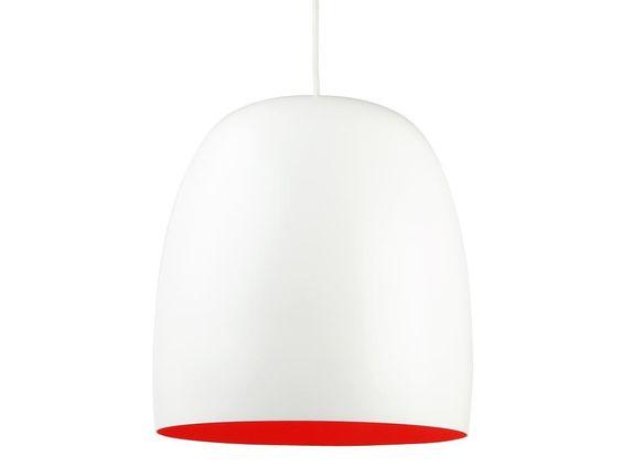 lamp eettafel:  Hanglamp Kalimero wit-oranje - Leitmotiv