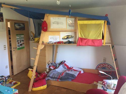Haba Bett Rabeneck Kletterbett Abenteuerbett Hangesessel Hochbett