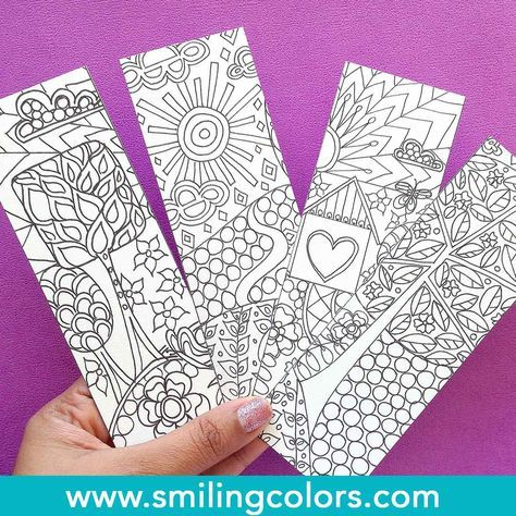If you are a bookworm or a colorist grab these free bookmarks to color and have fun coloring them in. You can watercolor on these, use color pencils or any coloring medium of your choice.
